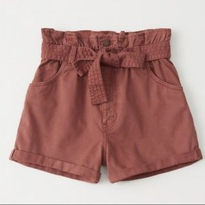 Terracotta red high waisted shorts